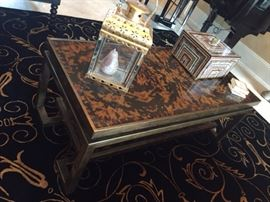 Tortoise shell style coffee table