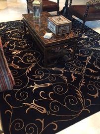 Black & Gold Tibet Rug 8' x 10'