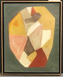 John Lynch, Abstract, c. 1960, oil on canvas, 30 x 24 in. Gallery price $2400.00, Estate Sale Price $995.00