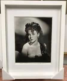 Susan Hayward, Paramount Pictures c. 1943, 8 x 10 in silver contact photographs, suite of 4 framed in modernist floater frame 14 x 16. Gallery price $499.00 each ($994 all four); Estate sale price all four $795.00 sold only as a set.