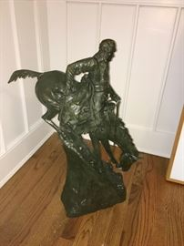 """Roman Bronze Works Remington bronze """"The Mountain Man"""" limited edition of 250 valued at $25k"""