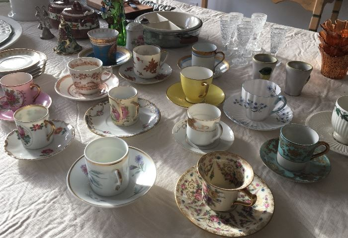 Collection of demi tasse cups
