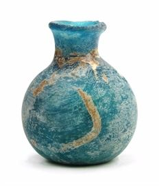 A SMALL RELICS BOTTLE OF BLUE MATERIAL,TANG DYNASTY (618-907)