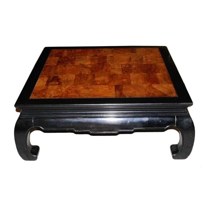 ethan allen late 20th century asian inspired coffee table a late 20th century asian inspired coffee table by ethan allen the wooden ebonized frame asian inspired coffee table