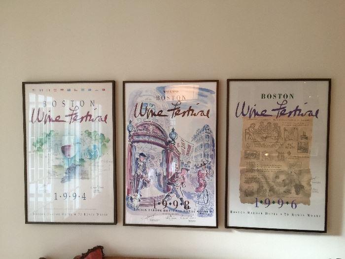 "3 Boston Wine Posters (20"" x 30"")"