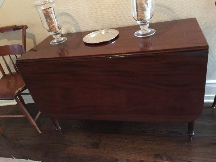 """Mahogany Drop Leaf Table (45"""" x 20"""" x 29"""") with Two 20"""" Leaves, c.1840"""