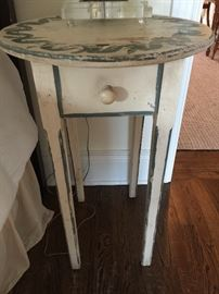 """Rustic Hand Painted Round Table (20"""")"""