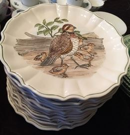 12 Hand Painted Pottery Plates by Madelainelya
