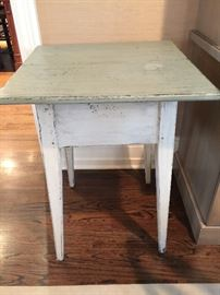 """Light Blue Painted Table (22"""" x 22"""" x 29"""")"""