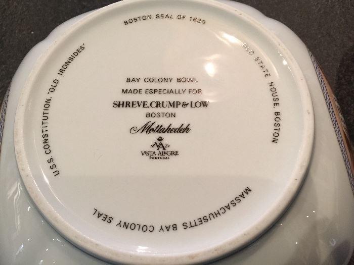 Cut Corner Porcelain Bowl by Mottahedeh