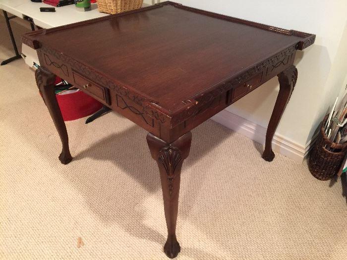 Mahogany Game Table