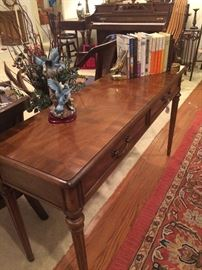 Two drawer sofa table (piano in background - not available)