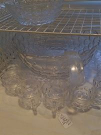 Punch bowl and cups set