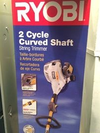 Ryobi 2 cycle curved shaft string trimmer