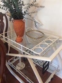 White serving cart