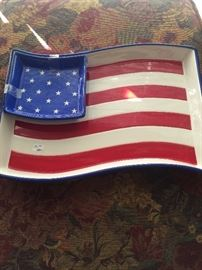 Patriotic chip & dip server