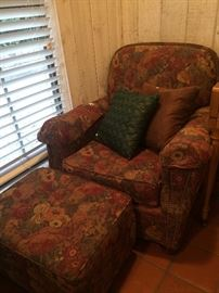Club chair and ottoman
