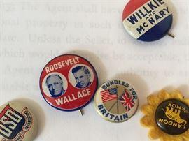 Vintage Presidential et al Campaign Buttons