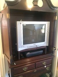 Queen Anne TV armoire and TV