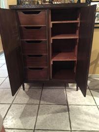 Inside antique cupboard