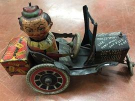1929 MARX JOY RIDE TIN WINDUP CRAZY CAR