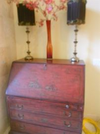 """Beautiful secretary. Asian theme, made from wood, by  """"Hooker Furniture"""". http://www.hookerfurniture.com/aboutus.inc"""