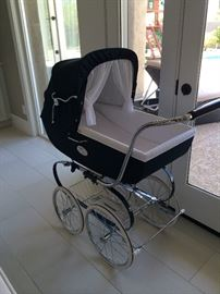 Inglesina Classica Pram- navy used in excellent condition! $550 Inspired by nineteenth-century British aristocracy and refined in Italy by Inglesina, there is nothing quite like the Classica. This enduring model of family and tradition features a timeless yet uniquely contemporary design. Handcrafted in Italy by skilled artisans using only the finest materials, the Classica places your child at the pinnacle of safety, comfort and style. The Classica, however, is not for everyone. It is only for those looking for an exclusive family heirloom, to be admired and remembered for generations. The Chassis and Pram:The internal lining is completely removable and washable, The backrest can be adjusted manually and has a recline positions., The pushchair seat transforms the pram into a stroller and is reversible(i.e. the  5 position on the chassis can face the mommy or the street, as preferred). Equipped with bar-linked rear suspension brake. Equipped with spoked rubber wheels, Adjustable handle