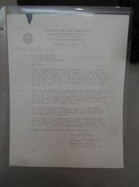 A copy of a letter to Altobelli from Vincent Bugliosi thanking him for his testimony in the Manson case.