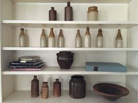Antique Crocks and Antique Stoneware Bottles