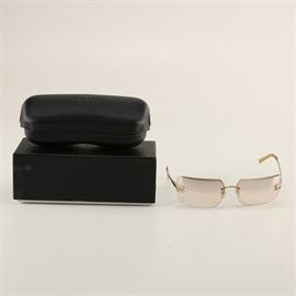 cd118b176a8f7 Women s Chanel Sunglasses with Rhinestone Logo Accents  A pair of women s  Chanel sunglasses. The