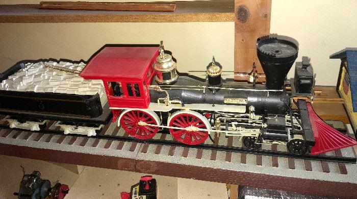 TRAIN ENGINE AND COAL CAR