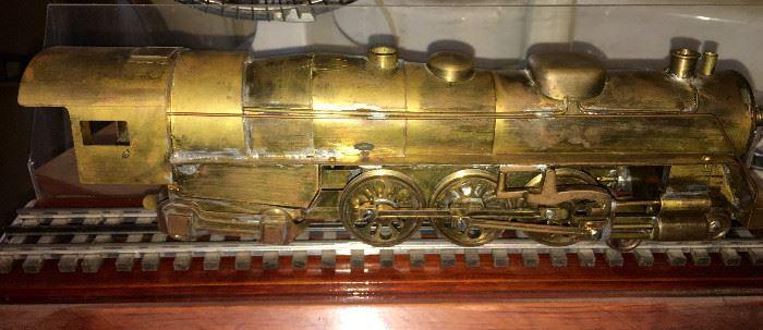 BRASS, WELDED TRAIN ENGINE