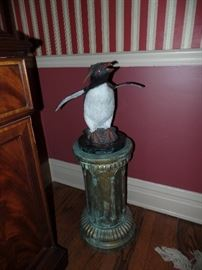 Yay. This Penguin sculpture is back in the sale. Bronze by Turner Sculpture.  Purchased at the Naples International Antique and Art Show