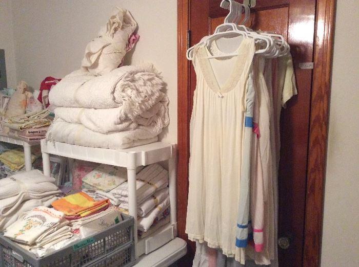Bedroom - full of all types of linens & on door - lingerie