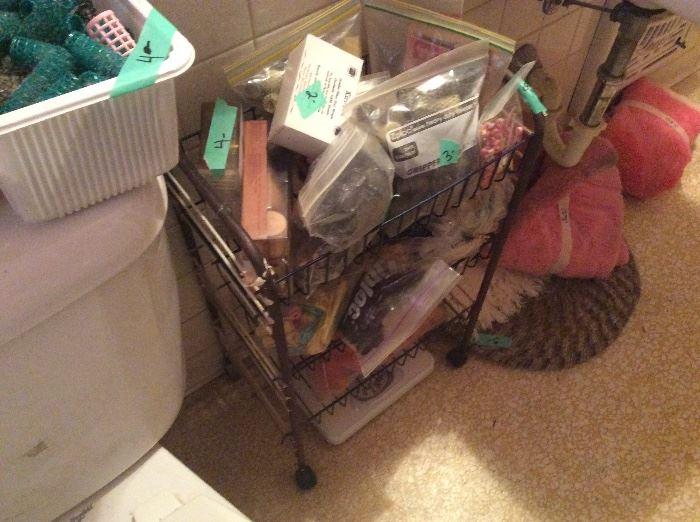 Bathroom - vintage stuff including vintage gail curlers!