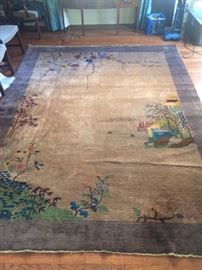 fabulous chinese pictorial art deco rug 9 feet x 12 feet