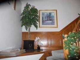 Potted faux plant, art