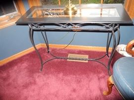 Glass top foyer table