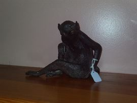Antique Bronze Monkey