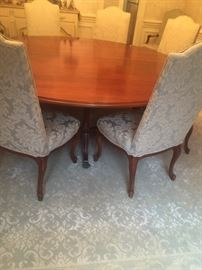 8 ' round cherry dining table by Harden