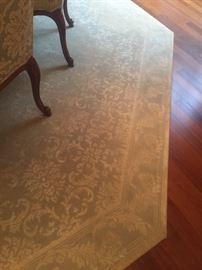 13' octagonal silk rug