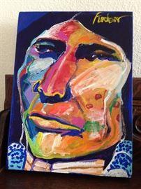 "Malcolm Furlow painting !  9 X 12  canvas  ""Kiowa"""
