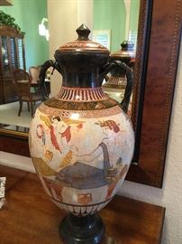 Gorgeous   Art-Midoros Ceramics from Santorini    Hand painted  exclusively by P. Vaglis, Geometric Amphora  800 BC