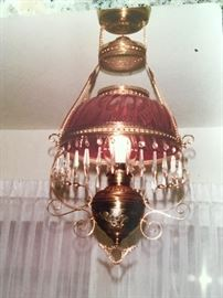 Antique oil lamp chandelier