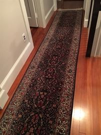 "This one is my favorite, soft as silk - Tabriz hand knotted. Very long runner - 29"" wide"