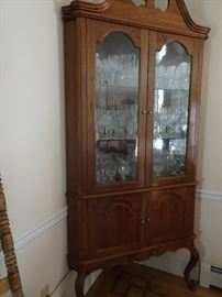 "Corner Highboy China Closet - one of 4 - 92""H X  41""W x 27""D"