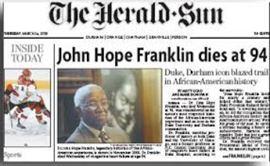 Durham Herald Sun Obituary