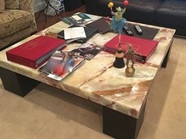 Maurice Villency Marble top coffee table