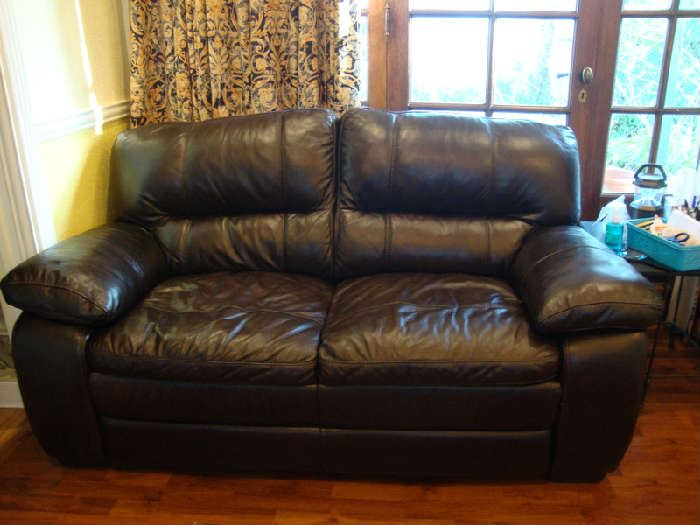 Brown Sofa / Love Seat