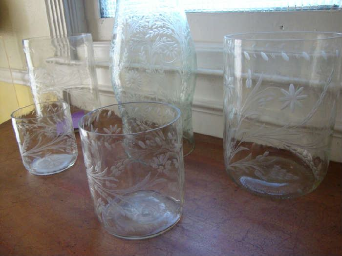 Mexico Etched Glassware